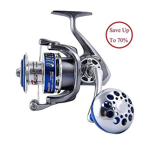 Size 7000 Full Metal Saltwater Spinning Fishing Reels