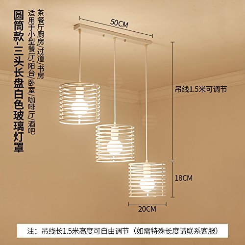 BESPD Creative industrial wind Schlafzimmer einfache moderne Gang Mahlzeit hängenden Hängeleuchte Kronleuchter Deckenlampe deep khaki Farbe Zylinder 3 -