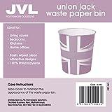 from JVL JVL Novelty British Union Jack Flag Waste Paper Bin - 25 x 26.5 cm Model 15-943A