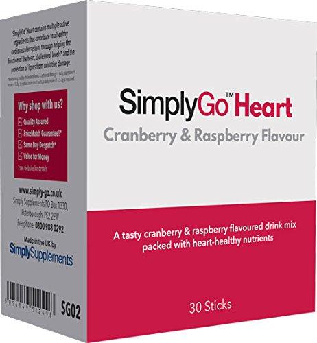 SimplyGo Heart - Bebida a base de esteroles vegetales - Sabor frambuesa y arándanos - Ayuda a mantener los niveles de colesterol - SimplySupplements