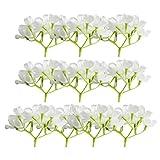 MagiDeal 10pcs Hortensie Kunstblumen aus Seide Hochzeit Dekor Blumenstrauß - Weiß