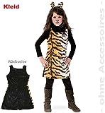 Fries 1934 Sweet Tisha Kleid Kinder Kostüm Tiger Muster Karneval Fasching: Größe: 128