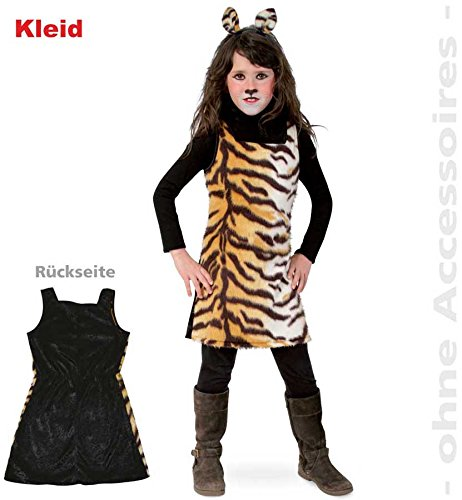 Fries 1934 Sweet Tisha Kleid Kinder Kostüm Tiger Muster Karneval Fasching: Größe: 116 (Tiger Kleid)