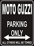 PEMA Parkplatz - Parking Only Moto Guzzi - Parkplatzschild