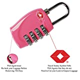 Haito TSA Approved All Metal International Travel Luggage Lock 2 Pack-4 Digit Combination- Approved Travel Lock for Suitcases & Baggage (Pink)