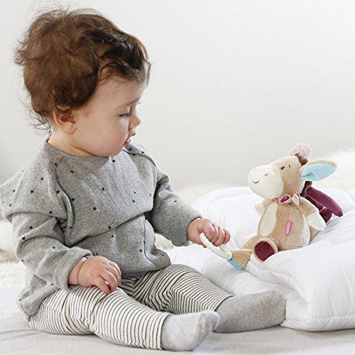 Kuscheltier mit integriertem Spielwerk mit sanfter Melodie zum Aufhängen an Kinderwagen, Babyschale oder Bett, für Babys und Kleinkinder - Spielwerk, sanfter, MiniSpieluhr, Melodie, Kuscheltier, Kleinkinder, Kinderwagen, Fehn, Esel, Babyschale, baby einschlafhilfe auto, Aufhängen