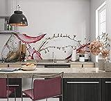 Hochwertige Küchenrückwand Folie Selbstklebefolie Virgin Optik - Moderne Klebefolie für die Küche in verschiedenen Größen - Selbstklebende Dekofolie, Spritzschutz Herd