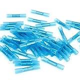 50 Stk. Schrumpfverbinder Quetschverbinder Stossverbinder Kabelverbinder Heisskleber Sortiment schrumpfbar Blau 1.5-2.5mm