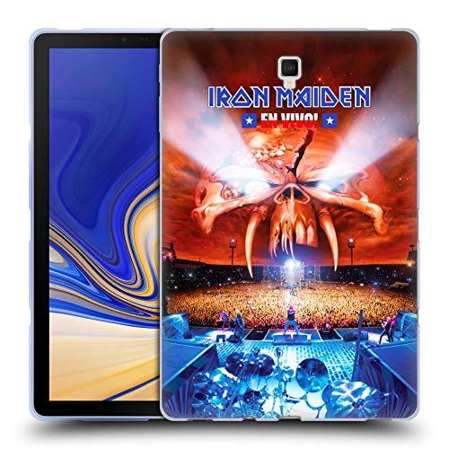 Head Case Designs Offizielle Iron Maiden En Vivo! Tour Soft Gel Hülle für Samsung Galaxy Tab S4 10.5 (2018)