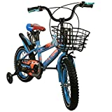 Airel Biciclette per Bambini | Bicicletta con rotelle e Cestino | Bici Bimbo | Bicicletta per Bambini 12, 16, 18 Pollici | Bicicletta per Bambino 3-7 Anni