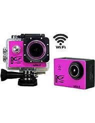 1+ 1® WiFi Full HD 1080p Sport Action Kamera 12MP 170Grad Weitwinkel 3,8cm Display Auto DVR Recorder Digital Wasserdicht Helm Action Kamera, HDMI-Ausgang Camcorder 2Akkus mit gratis Zubehör-Kit