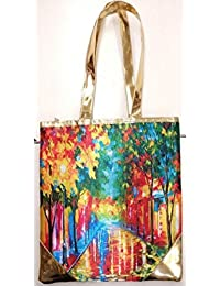 Women's Tote Bag Digital Print Hand Bag Zipped Fashion Canvas Large Space - B076YFZGTD