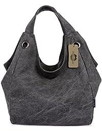 KISS GOLD Damen Schultertasche Canvas Totes Hobo Bag mit einfachem Stil
