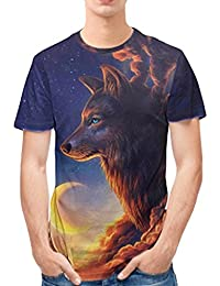 Amazon.es  lobo camiseta  Ropa cfa5d19761130