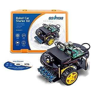 OSOYOO Robot Car Kit Smart Car Learning Kit for Raspberry Pi 3B, B+,Zero W | Android/iOS APP | Web Camera 1280x720 One Megapiexl WiFi Wireless