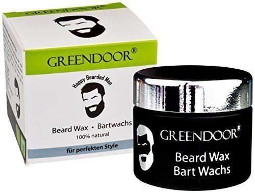 TOP NOUVEAUTÉ 100% NATURE - Greendoor - Cire pour la barbe garantie sans parfum - SUBLIME POT EN VERRE NOIR - 50 ML