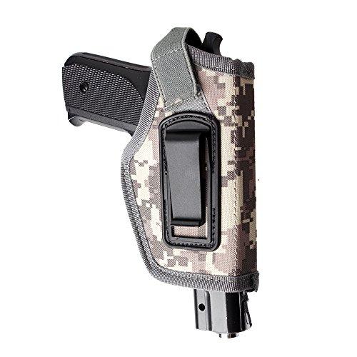 IWB, Pistolenholster, 1 Stück, zum Tragen innen am Bund, verdecktes Tragen, passend für M + P Shield In, 9mm Glock 19,43,17,26,23,27,P320,Ruger LC9, lC380und ähnlich große Pistolen, acu -