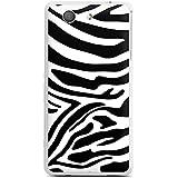 Sony Xperia Z3 Compact Hülle Silikon Case Schutz Cover Zebra Animal dschungel