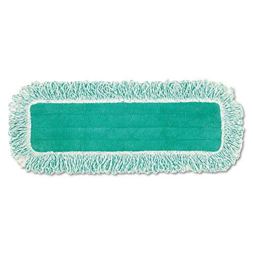 Rubbermaid Q418GN Dust Pad with Fringe Microfiber 18 Long Green