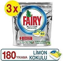 Fairy Platinum Bulaşık Makinesi Kapsülü, 180 Yıkama, 60 x 3