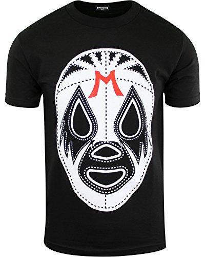 ShirtBANC Black Mil Mascaras Shirt Lucha Libre Tee Wrestling Gear - Schwarz - 3X-Groß