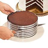 Regolabile torta dell'acciaio inossidabile Anello taglierina, di strato del cioccolato affettatrice Kit mousse affetta torta, HomeYoo Mousse Stampo per torta di formaggio a strati (7.8 Pollici)