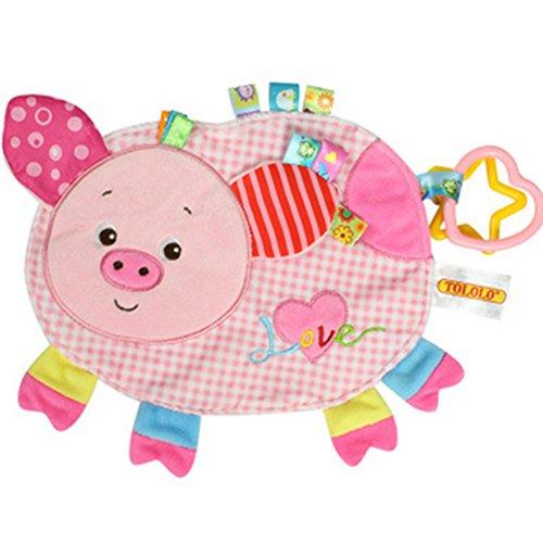 Hemore Baby Spielzeug Geschenke, Nette Tier Baby Plüschtiere,Aktivitätsspielzeug Baby kann Bissen und Komfort Handtuch Spielzeug EIN Schwein 1 Packung Für Babys Kinder