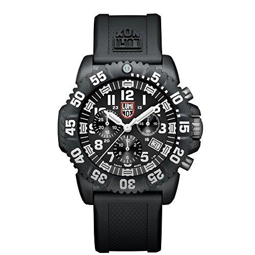 Luminox Navy SEAL Colormark Chronograph XS.3081 Reloj de Plásticolsera Cuarzo Hombre correa de Plástico Negro