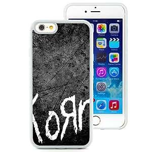 6 case,Unique Design Korn Name Font Background Scratches White iPhone 6 4.7 inch TPU case cover