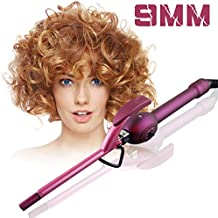 Mini 9 mm Curling Wand de cerámica y turmalina plancha profesional rizador de cabello para hombres y mujeres para niños Hair Styling