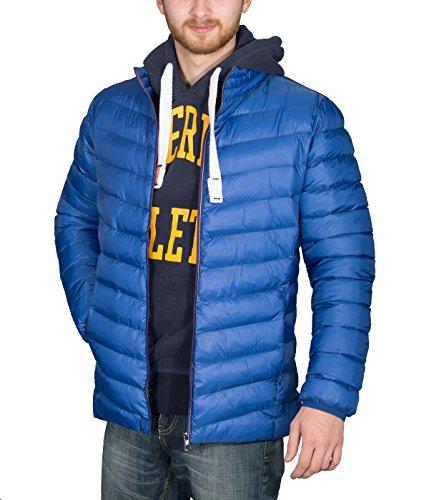 BetterStylz KaletanBZ Herren Winterjacke Daunenlook Bubble Jacket Vegan Steppjacke Übergangsjacke 4 Farben (M-XXL) (X-Large, Royal Blau)