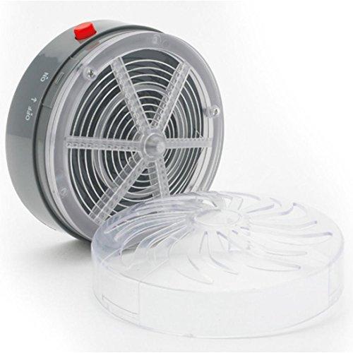 Odejoy_Casa e cucina Energia solare repellenti  LAMPADA Zanzara Insetto UV Light Fly all\'aperto campeggio Necessario Manufatto repellente per zanzare (10*10*3cm)