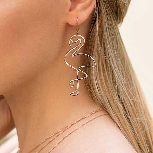 Jovono Bohemian Ohrringe mit Legierung Flamingo Anhänger für Damen und Mädchen