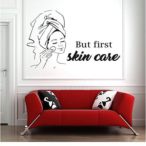 [mzdzhp]Spa Zeichen Gesichtsbehandlungen Wandtattoo Zitat Maske Hautpflege Beauty Salon Körpermassage Vinyl Aufkleber Wohnkultur Schlafzimmer 112 * 70 cm - Hautpflege Nicht Toxische