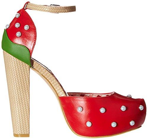 Iron Fist Strawberry Lips Platform, Mary Jane femme Rouge - Rouge