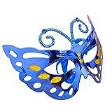 Inception Pro Infinite (Blu Maschera Veneziana Farfalla - Colorata - Costume - Travestimento - Carnevale - Halloween - Cosplay - Donna - Bambina