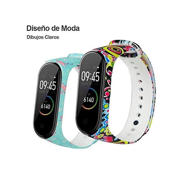 G-Color Correa Xiaomi mi band 3/4, 8 Colores, Correa de Silicona Blando, Impermeable y Ajustable, Pulsera/Banda… 8
