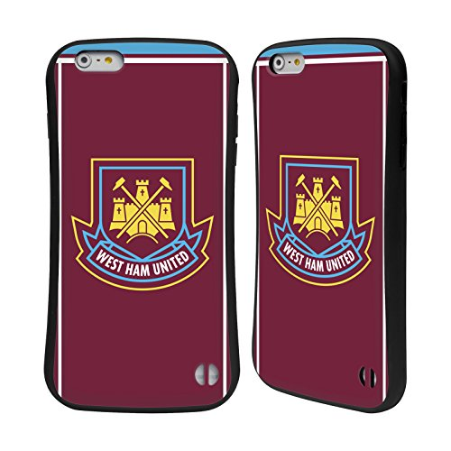 Ufficiale West Ham United FC 2015/16 Final Home Retro Stemma Case Ibrida per Apple iPhone 7 Plus / 8 Plus Di Canio 2000 Home