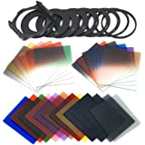 XCSOURCE 24pcs Square Full + Graduated Filter Set + 9 Size Adapter Ring Filter Holder for cokin p series LF78