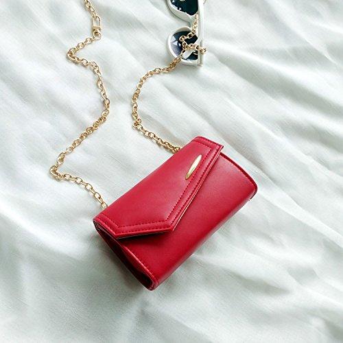 SQI Estate catena Mini borsa donna nuova ondata versione coreana di ragazza in borsa tracolla Borsa moda,red catena può regolare la lunghezza