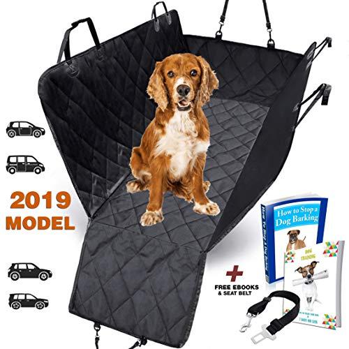 Coprisedile auto per cani da interno veicolo AMZPET - Telo impermeabile auto per cani - Telo auto per cani lavabile in lavatrice - Coprisedile per cani posteriore e telo bagagliaio - Accessori cani
