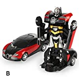 Ohwens Deformation Car, 1:20 Electric Transformation Car Robot Model Action Figure Kids Boys Toy Gifts