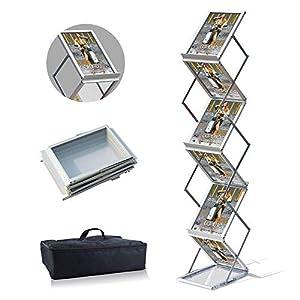 VAIIGO A4 Tragbarer faltbarer Prospektständer, doppelseitig, für Ausstellungen, Literatur, Bodenständer…