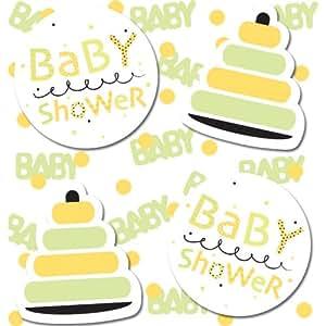 kreative konvertieren 190763 gelb und gr n babyparty confetti alle produkte. Black Bedroom Furniture Sets. Home Design Ideas