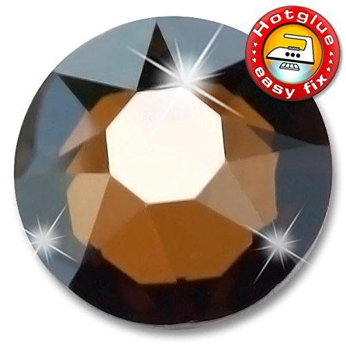 50 Stück SWAROVSKI 2078 XIRIUS Hotfix, Crystal Bronze Shade, SS20 (Ø ca. 4,8 mm), Strasssteine zum Aufbügeln