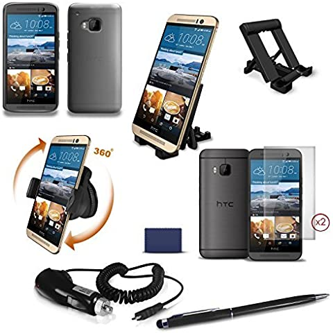 TechEssentialsTM - Tutto per HTC One (M9) - Accessori Bundle - Ottima confezione di valore che include tutto il necessario per htc One M9 in un solo pacchetto.
