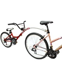 Barracuda Buddy 6 - Bicicleta Infantil con fijación a Bicicleta de Adulto (6 velocidades, 51 cm, Rueda Grande), Color Rojo