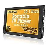 10 inch portátil pequeño LED TV Digital DVB-T para coche, camping, al aire libre o cocina....