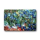 Wolanim Doormat Custom Machine-Washable Door Mat Vincent Van Gogh Abstract Art Indoor/Outdoor Doormat 23.6 x 15.7 Inches