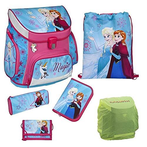 Disney die Eiskönigin Schulranzen-Set 6tlg. Scooli Campus Up Frozen Magic mit Federmappe und Regenschutz